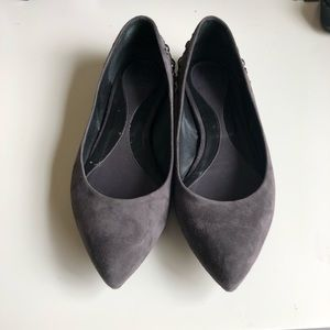 Alexander Mcqueen Studded suede pointed flats 9